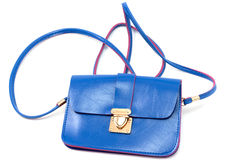 Handbag. Female handbag for cosmetics, isolated on a white backgroun royalty free stock photo