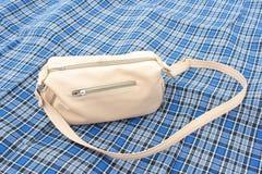 Handbag. In the gingham fabric Stock Image