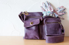 Handbag and Gloves Royalty Free Stock Image
