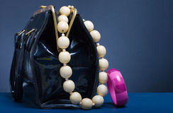 Handbag and jewelry Royalty Free Stock Images