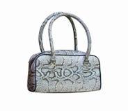 Handbag made of piton Royalty Free Stock Images