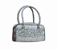 Handbag made of piton Royalty Free Stock Images