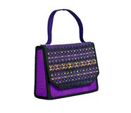 Handbag made of Thai silk patterns Mudmee Royalty Free Stock Photography