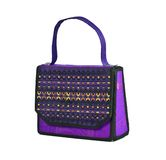 Handbag made of Thai silk patterns Mudmee Royalty Free Stock Images