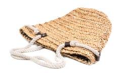 Handbag from natural straw Stock Image
