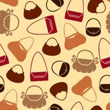 Handbag pattern seamless Royalty Free Stock Photos