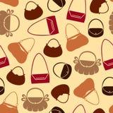 Handbag pattern seamless. Silhouette of handbag seamless pattern Royalty Free Stock Photos