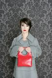 Handbag red retro woman vintage fashion Royalty Free Stock Image