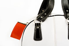 Handbag with red wallet Royalty Free Stock Photography