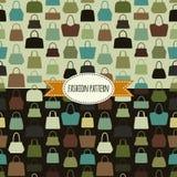Handbag seamless pattern. Stock Photos