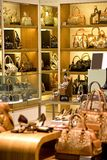 Handbag and Shoe Shop. Image of a shop selling handbags and shoes in Malaysia Stock Photography