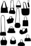 Handbag silhouettes Royalty Free Stock Image