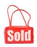 Handbag with sold sign Royalty Free Stock Photography
