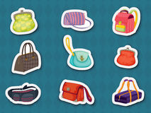 Handbag stickers Stock Photography