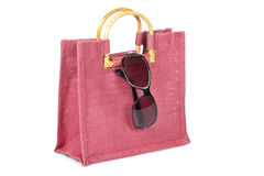 Handbag and sunglasses Royalty Free Stock Image
