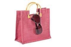 Handbag and sunglasses Royalty Free Stock Image