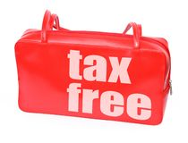 Handbag with tax free Royalty Free Stock Photo