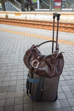 Handbag and travel bag. Stock Image