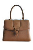Handbag vintage. A vintage handbag made out of leather royalty free stock photos