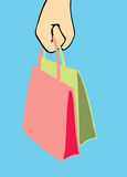 Handbag in woman arm Stock Photo