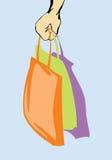 Handbag in woman arm Royalty Free Stock Image