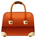 Handbag with zip and handle. Illustration Royalty Free Stock Image