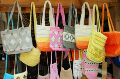 Handbags. Handmade handbags Stock Photography