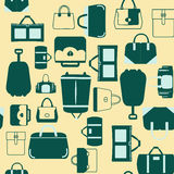Handbags bags and Travel suitcases background Stock Photo