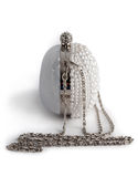 Handbags on a chain decorated with pearls. Royalty Free Stock Image