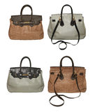 Handbags. Front and back isolated on white Royalty Free Stock Photography