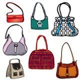 Handbags icon set. Stock Photo