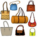 Handbags icon set. Royalty Free Stock Images
