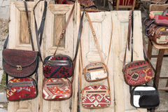 Handbags for sale Royalty Free Stock Image