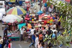 Handbags for sale near the New Market, Kolkata, India Stock Photography
