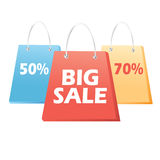 Handbags sale signs Royalty Free Stock Images