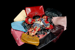 Handbags and scarves Stock Photography