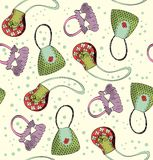 Handbags. Seamless pattern with childrens bags Royalty Free Stock Photo