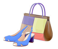 Handbags and shoes vector illustration