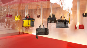 Handbags Showcase Paris 2015 Royalty Free Stock Photography