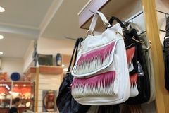 Handbags in store Royalty Free Stock Images