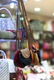 Handbags in the store Stock Photography