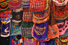 Handbags at mexican street market Royalty Free Stock Photo