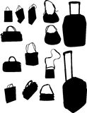 Handbags and suitcases Stock Images