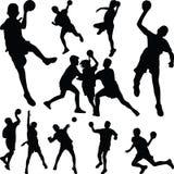 handbal stock foto's