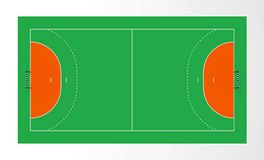 Handbalhof stock illustratie