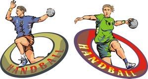 Handball. Take a shot, shot on goal, play ball Stock Image