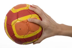 Handball. Is a very fast team sport for both men and for women Royalty Free Stock Photos