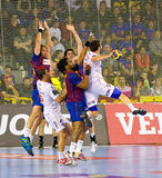 Handball action Royalty Free Stock Image