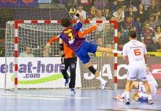 Handball action Stock Photography