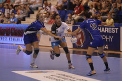 Handball action Stock Images